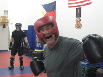 B4 Sparring with Tony